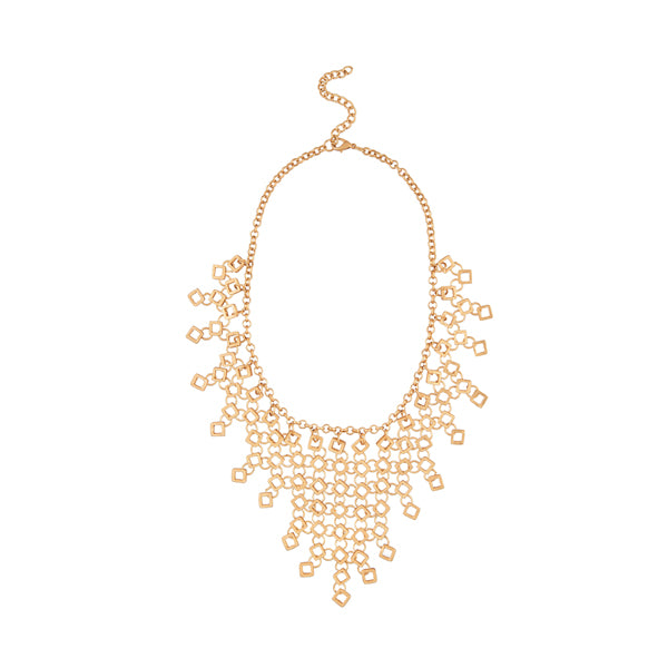 Urthn Gold Pated Statement Necklace