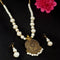 Kriaa Gold Plated Pearl Necklace Set - 1109308