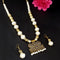 Kriaa Gold Plated Pearl Necklace Set - 1109309