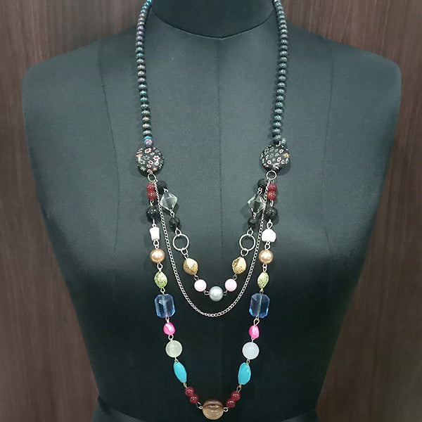 Urthn Multi Beads Statement Necklace