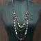Urthn Silver Plated Multi Beads Statement Necklace