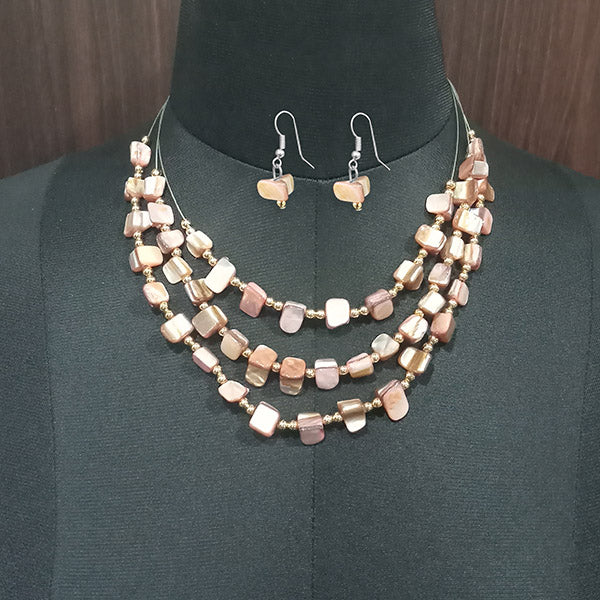 Urthn Stones Silver Plated Statement Necklace Set