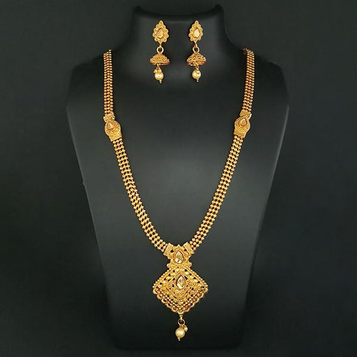 Kriaa Brown Austrian Stone Haram Necklace Set