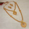 Utkrishtt Pota Stone Gold Plated Austrian Stone Double Necklace Set