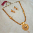 Kriaa Gold Plated Brown Kundan Haram Necklace Set