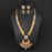 Kriaa White Austrian Stone And Kundan Necklace Set