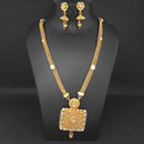 Kriaa Gold Plated White Kundan Necklace Set