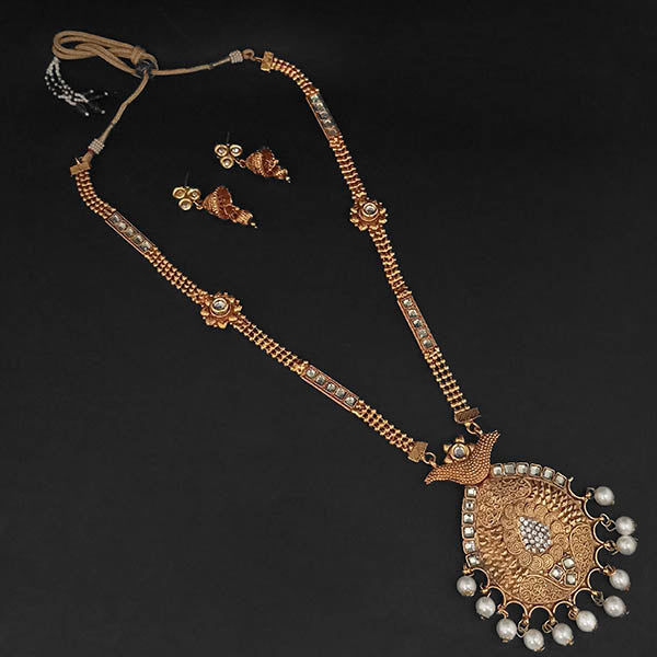 507fe2a87a7a8 Kriaa Gold Plated White Austrian Stone And Pearl Necklace Set