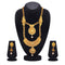 Kiaa Gold Plated Brown Kundan Double Layer Necklace Set - 1109870A