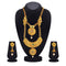 Kriaa Maroon And Green Pota Stone Double Layer Necklace Set