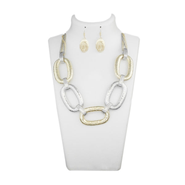 Urthn 2 Tone Statement Necklace Set