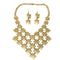 Urthn Gold Plated Statement Necklace Set