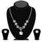 Urthn Austrian Stone Silver Plated Necklace Set - NB