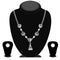 Urthn Silver Plated Austrian Stone Necklace Set