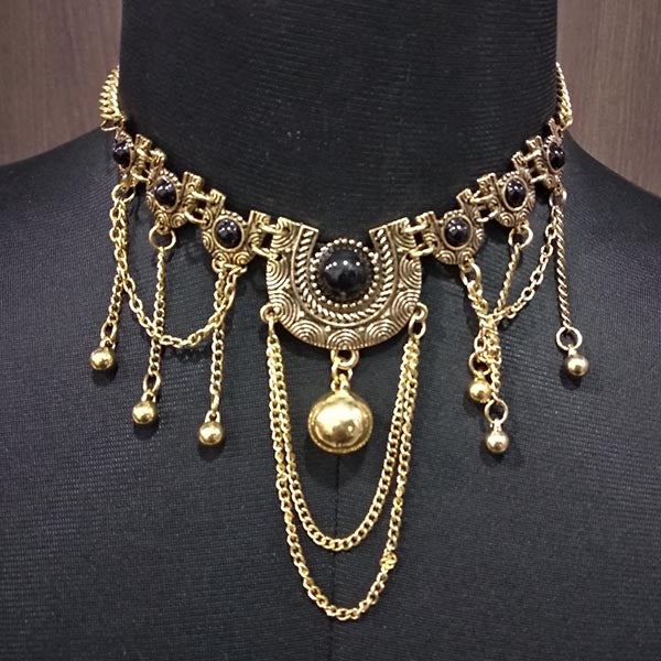 Urthn Pota Stone Antique Gold Plated Statement Necklace