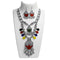 Jeweljunk Multicolour Rhodium Plated  Navratri Special Necklace Set