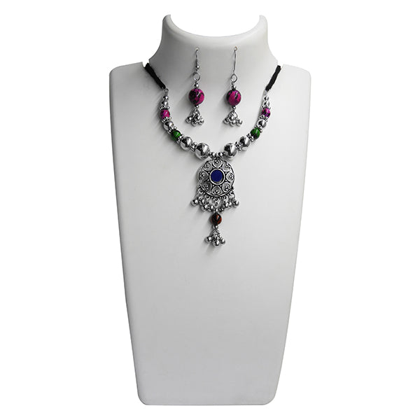 Jeweljunk Navratri Special Multicolour Beads Necklace Set