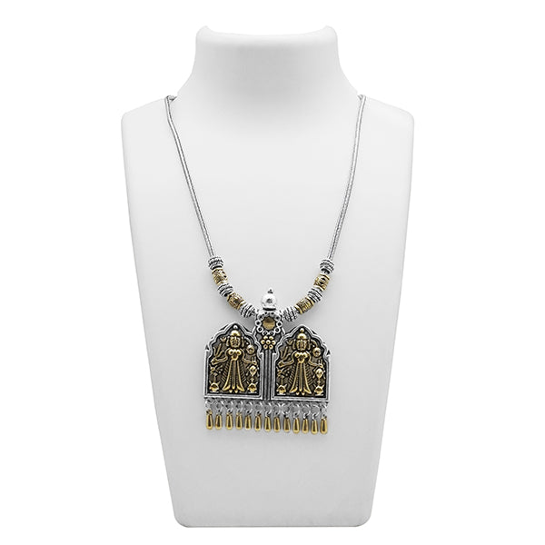Jeweljunk 2 Tone Plated Zinc Alloy Boho Necklace
