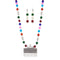 Urthn Rhodium Plated Multicolor Beads Necklace Set
