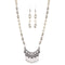 Urthn Rhodium Plated White Beads Necklace Set