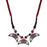 Urthn Beads Rhodium Plated Thread Necklace Set