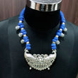 Jeweljunk Blue Dori Peacock Design Tribal Necklace Set