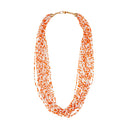 Urthn Orange Beads Zinc Alloy Statement Necklace