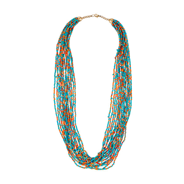 Urthn Zinc Alloy Multicolor Beads Statement Necklace