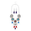 Jeweljunk Rhodium Plated Multicolour Thread Necklace Set