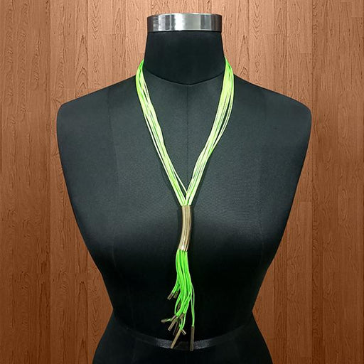 Urthn Green Hanging Lace Statement Necklace