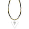 Urthn 3 Tone Plated Stone Statement Necklace