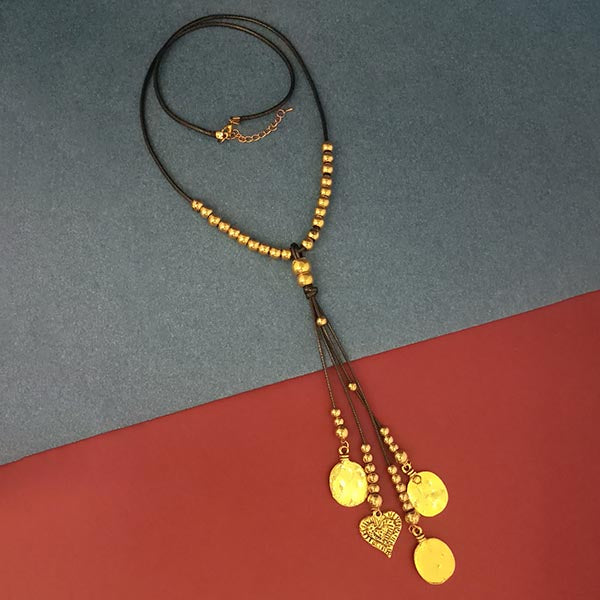 Urthn Gold Beads Fusion Necklace