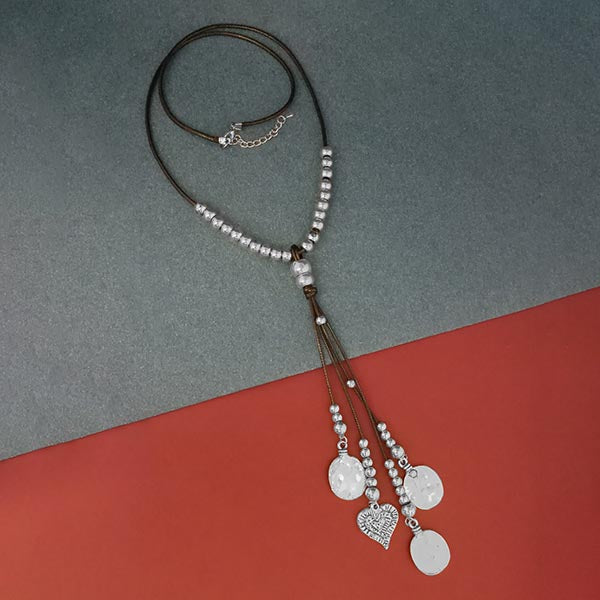 Urthn Silver Beads Fusion Necklace
