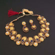 Midas Touch Blue Kundan Stone Gold Plated Necklace Set