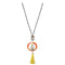 Urthn 2Tone Plated Tassel Statement Necklace