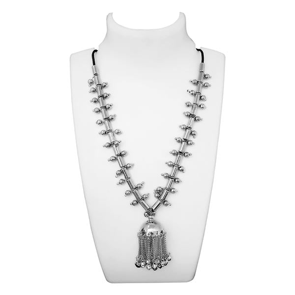 Jeweljunk Silver Plated Statement Necklace