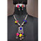 Jeweljunk  Multi Thread Drop Navratri Necklace Set