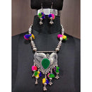 Jeweljunk Multicolour Thread  Navratri Necklace Set