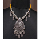 Jeweljunk Zinc Alloy Rhodium Plated Navratri Necklace