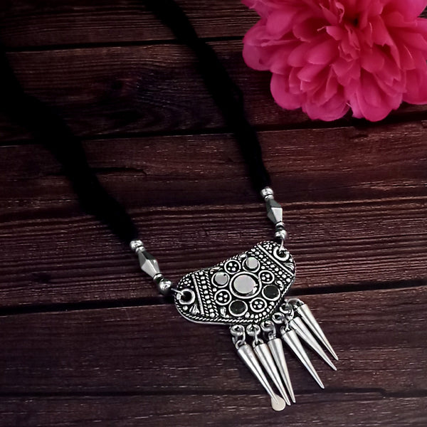 Jeweljunk Oxidised Plated Black color Necklace