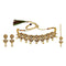 Kriaa Gold Plated Brown Austrian Stone Choker Necklace Set With Maang Tikka  - 1113814 - C