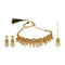 Kriaa Gold Plated Brown Kundan Choker Necklace Set With Maang Tikka - 1113818 - C