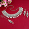 Kriaa Silver Plated White Stone And Kundan Choker Necklace Set With Maang Tikka - 1113820