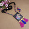 Native Haat Digital Printed Wooden Necklace Set - N1114118
