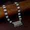 Native Haat Silver Plated Black Beaded Necklace - N1114524