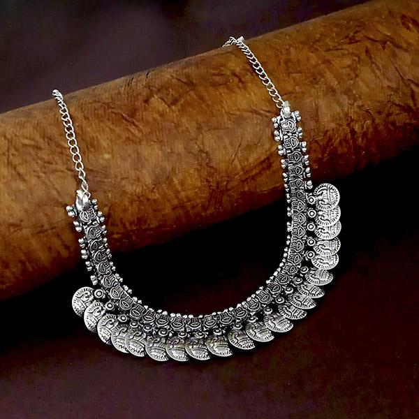 Native Haat Silver Plated Coins Necklace - N1114540