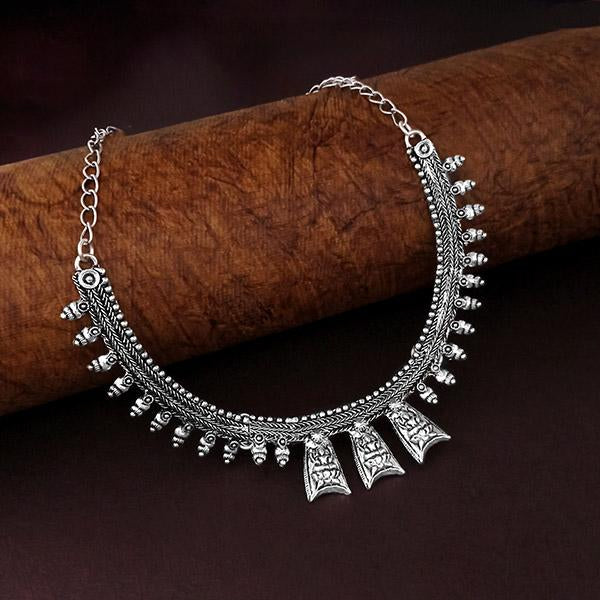 Native Haat Oxidised Plated Necklace - N1114542