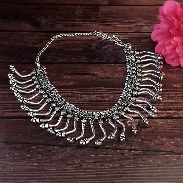 Jeweljunk Navratri Special Oxidised Plated Necklace