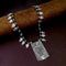 Native Haat Oxidised Plated Black Beaded Necklace - N1114559B