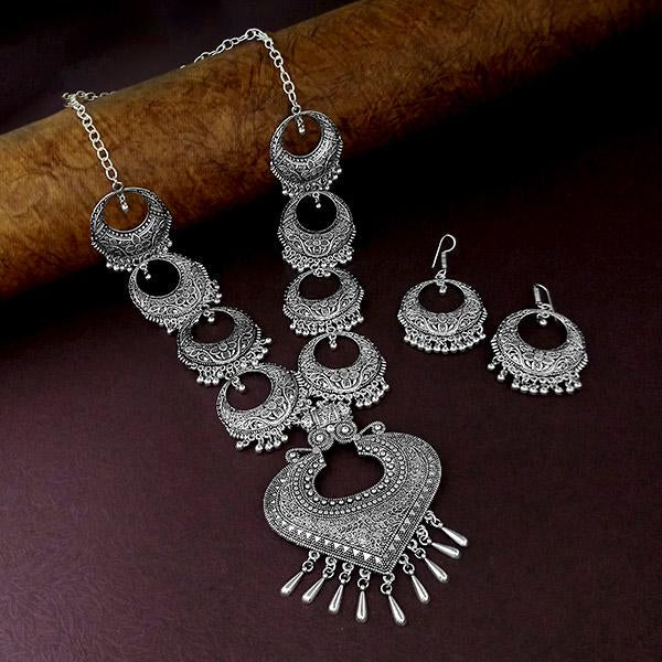 Native Haat Oxidised Plated Long Necklace - N1114563